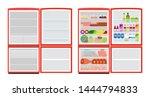 empty and full fridge. vector...   Shutterstock .eps vector #1444794833