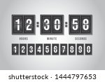 flip countdown clock counter.... | Shutterstock .eps vector #1444797653