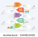 business infographic elements... | Shutterstock .eps vector #1444813430