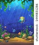 mahjong fish world   vector...   Shutterstock .eps vector #1444831286