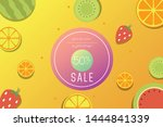 summer sale banner design... | Shutterstock .eps vector #1444841339