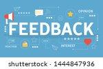 feedback concept. idea of a... | Shutterstock .eps vector #1444847936