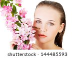 beautiful face of spa woman... | Shutterstock . vector #144485593