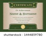 certificate or diploma vintage... | Shutterstock .eps vector #1444859780