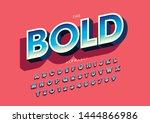 vector of stylized modern font... | Shutterstock .eps vector #1444866986