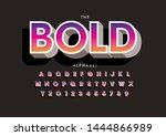vector of stylized modern font... | Shutterstock .eps vector #1444866989