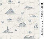 vector abstract seamless... | Shutterstock .eps vector #1444875800