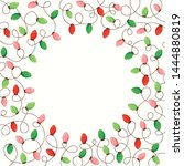 red and green holiday christmas ... | Shutterstock .eps vector #1444880819