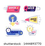 quick tip. tricks quick tips... | Shutterstock .eps vector #1444893770