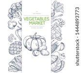 vegetable markets banner...   Shutterstock .eps vector #1444893773