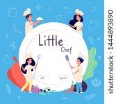 kids cook background. kids... | Shutterstock .eps vector #1444893890