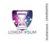 hourglass logo design.... | Shutterstock .eps vector #1444904993
