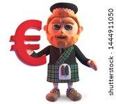 Cartoon Scottish Man In...