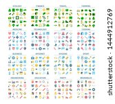 big set of flat colorful icons. ... | Shutterstock .eps vector #1444912769