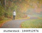 Woman Hiking At Stowe...