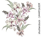 Watercolor Flower Illustration and Pattern