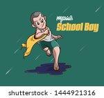 school boy art in myanmar  | Shutterstock . vector #1444921316