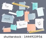 collection of various note... | Shutterstock .eps vector #1444923956