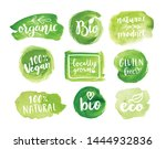 eco  organic food labels.... | Shutterstock .eps vector #1444932836