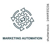 marketing automation outline... | Shutterstock .eps vector #1444935236