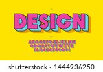 vector design font pop art... | Shutterstock .eps vector #1444936250