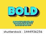 vector font 3d bold style for... | Shutterstock .eps vector #1444936256