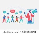 influencer marketing. potential ... | Shutterstock .eps vector #1444937360