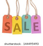 "Multicolor Tags Lettering ""sale""..."