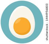 vector egg food icon.... | Shutterstock . vector #1444956803