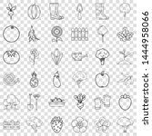 growth icons set. outline style ... | Shutterstock .eps vector #1444958066