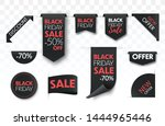 black friday sale ribbon... | Shutterstock .eps vector #1444965446