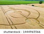 An Image Of Crop Circles Field...