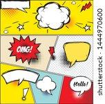 comic speech bubbles and comic... | Shutterstock .eps vector #1444970600