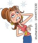 woman feel dizzy before fainting   Shutterstock .eps vector #1444972130