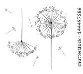 dandelion flower for your design | Shutterstock .eps vector #144497386