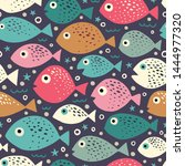seamless vector pattern with... | Shutterstock .eps vector #1444977320