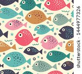 seamless vector pattern with... | Shutterstock .eps vector #1444977326