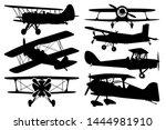 Biplane Aircraft Vector...