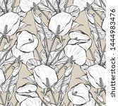 elegant seamless pattern with... | Shutterstock .eps vector #1444983476