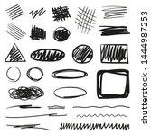 tangled shapes on white.... | Shutterstock .eps vector #1444987253