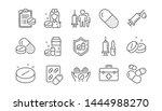 medical drugs line icons.... | Shutterstock .eps vector #1444988270