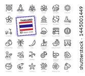 thailand  thai   minimal thin... | Shutterstock .eps vector #1445001449