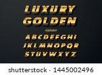 set of elegant gold colored...   Shutterstock .eps vector #1445002496
