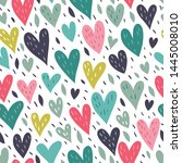 seamless vector pattern with... | Shutterstock .eps vector #1445008010