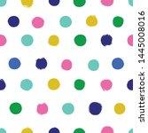 polka dot seamless vector... | Shutterstock .eps vector #1445008016