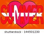 vector illustration of summer... | Shutterstock .eps vector #144501230