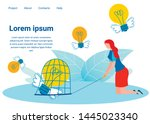 innovative projects flat... | Shutterstock .eps vector #1445023340