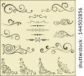 set of vector swirl elements...   Shutterstock .eps vector #144502856