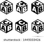 abc block sing on white...