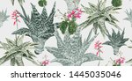 floral seamless pattern with... | Shutterstock .eps vector #1445035046